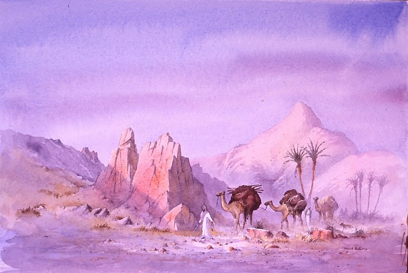 David Bellamy - Nomads near Boulmane High Atlas. European art; part 1
