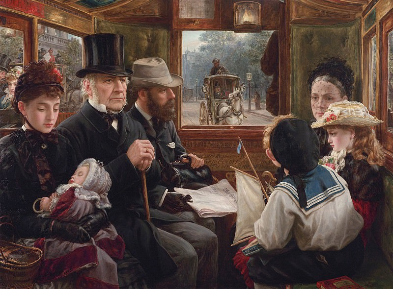 Alfred Morgan An Omnibus ride to Piccadilly Circus Mr Gladstone travelling with ordinary passengers 28483 20. European art; part 1