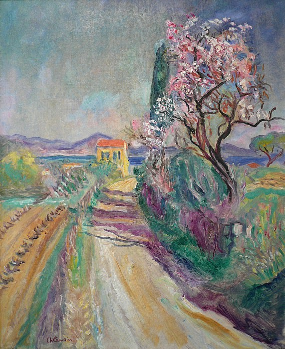 Charles CAMOIN La route du Pinet Г  lAmandier fleuri 88319 3449. European art; part 1