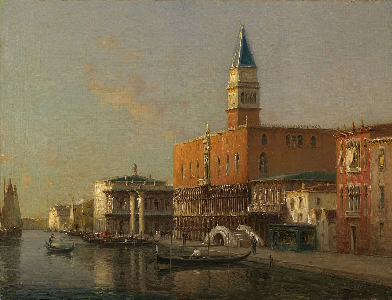 Antoine Bouvard Sr The Doges Palace Venice. European art; part 1