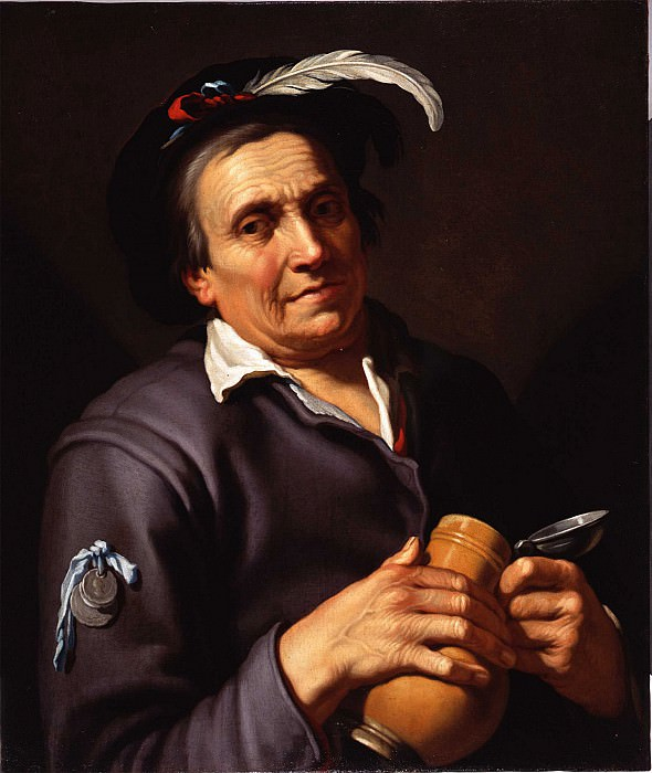 Abraham Bloemaert The Drinker. European art; part 1