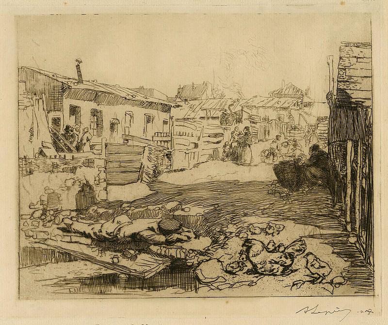 Auguste Lepère Cité de Chiffonniers – The Town of the Rag and Bone People 1895 123039 1124. European art; part 1