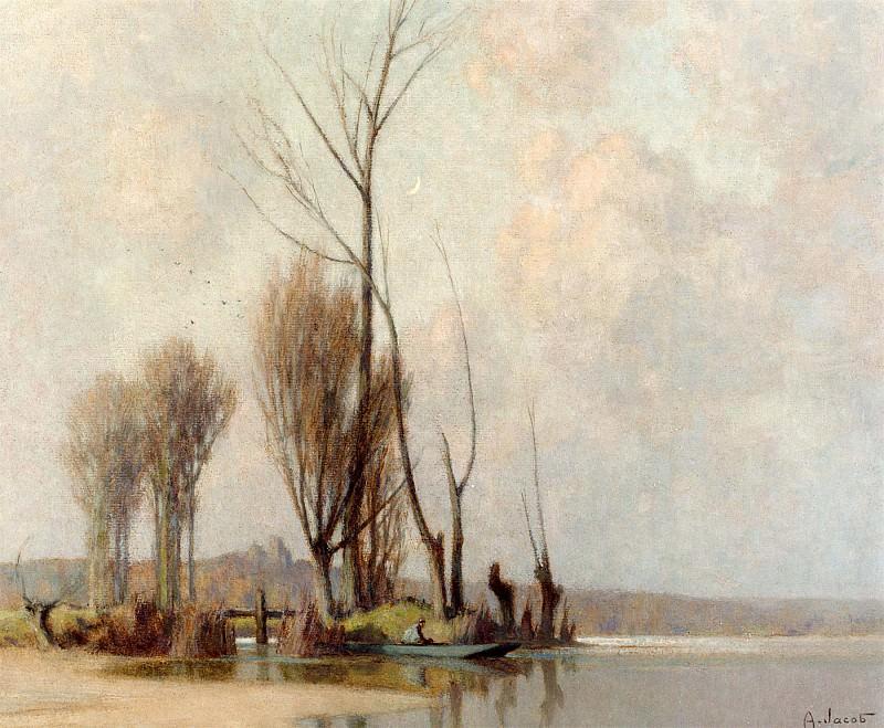 Alexandre Jacob LApproche de la Nuit Vallee du Char 12129 2426. European art; part 1