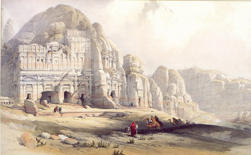David Roberts Petra Showing the Upper End of the Valley 31455 3606. European art; part 1