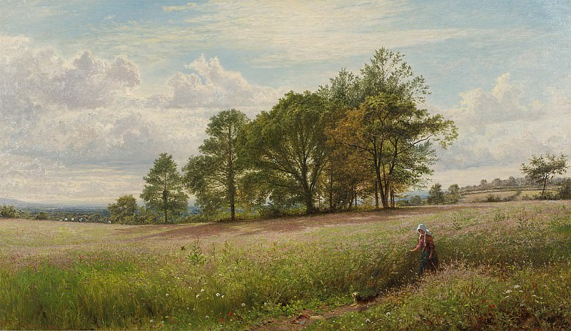 Benjamin Williams Leader Summer Time Through the hayfield Worcestershire 40254 20. Европейская живопись; часть 1