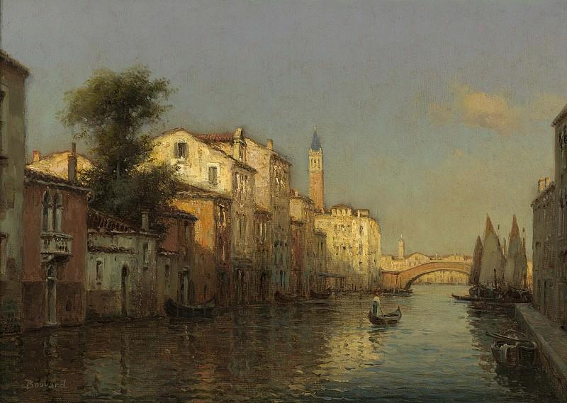 Antoine Bouvard Sr Canal Scene Venice. European art; part 1