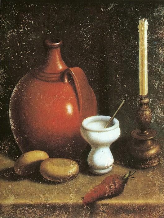 Carlo Magini 1720 1806 Nature morte Г la chandelle cruche oignon blanc Г©chelle et papier pliГ© 16810 203. European art; part 1