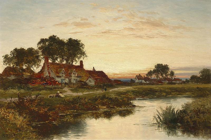 Benjamin Williams Leader Worcestershire Cottages 40257 20. European art; part 1