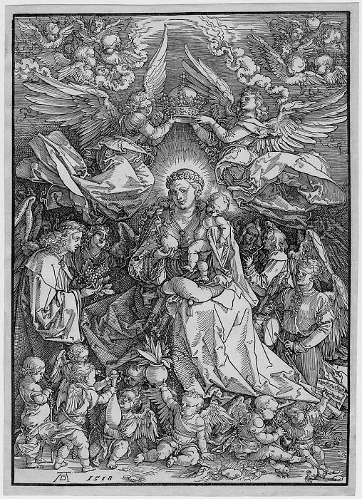Albrecht DГјrer The Virgin as Queen of Angels 122219 1124. European art; part 1