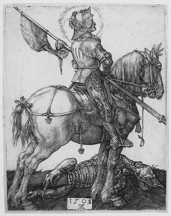 Albrecht DГјrer Saint George on Horseback 29967 1124. European art; part 1