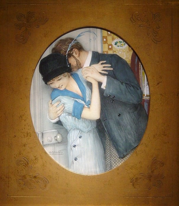 Albert Emile KIRCHNER - The Embrace. European art; part 1