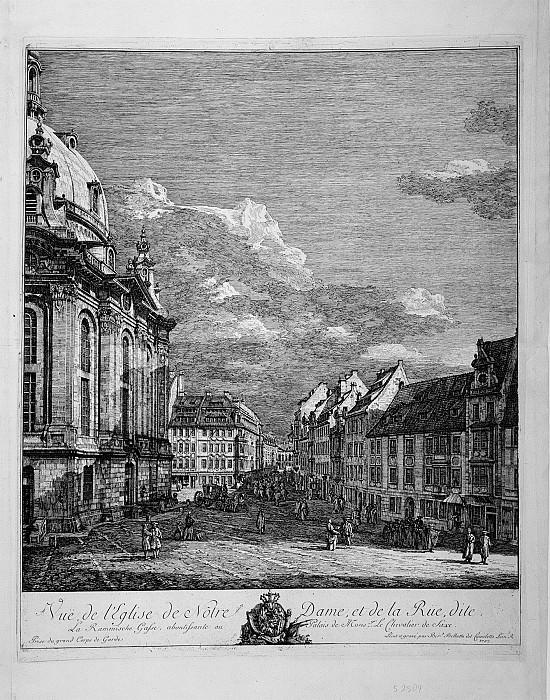 Bernardo Bellotto View of the Frauenkirche in Dresden. European art; part 1