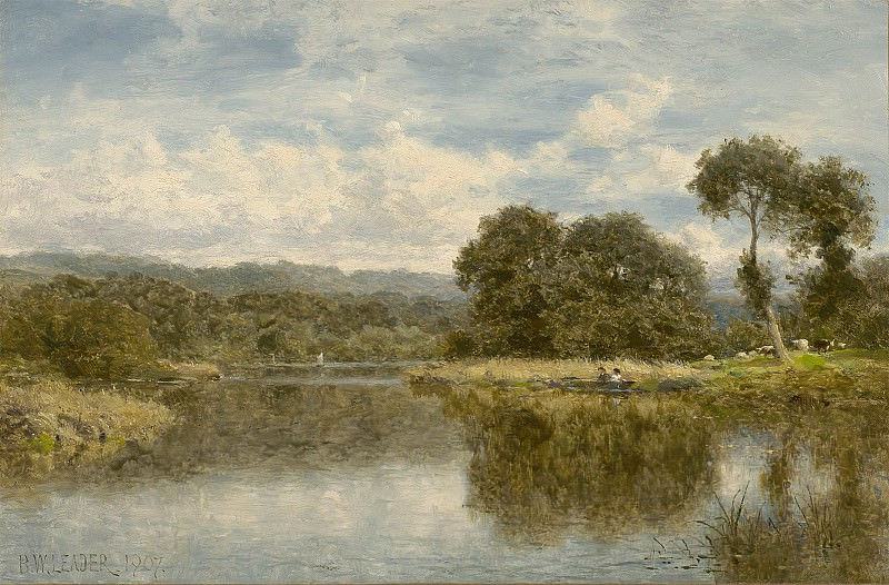 Benjamin Williams Leader A fine day on the Thames 40244 20. European art; part 1