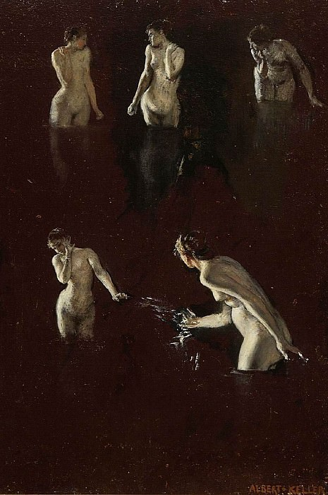 Albert von Keller Study of five female nudes 41088 172. European art; part 1