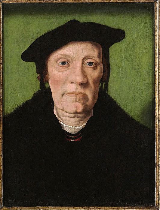 Jan van Scorel - Unknown Gentleman. European art; part 1 (attr.)