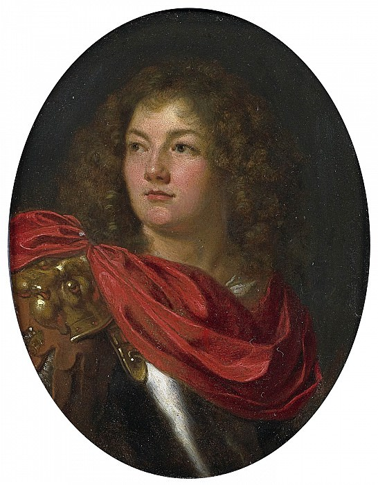"ARY DE VOIS ""Portrait of a Gentleman Wearing Classical Armor"" 34851 316. European art; part 1"