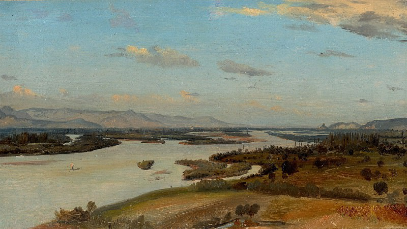 ALINE BOULIAN A view of the River Rhine near Breisach 11583 172. Европейская живопись; часть 1