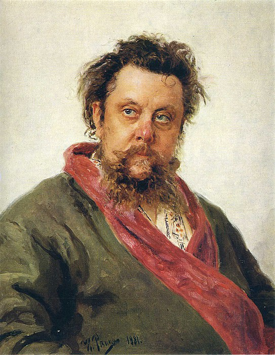 Portrait of Modest Petrovich Moussorgsky (1839-1881). Russian Painting - from The Tretyakov Gallery