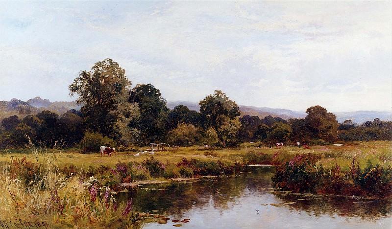 Walter W Caffyn Summer on the River Rother Nr Midhurst Sussex 11980 2426. часть 5 - европейского искусства Европейская живопись
