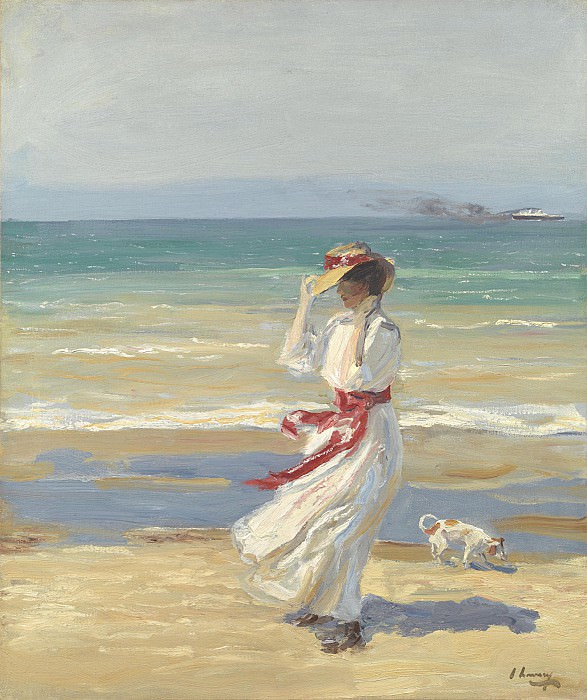Sir John Lavery A windy day 112419 20. часть 5 - европейского искусства Европейская живопись