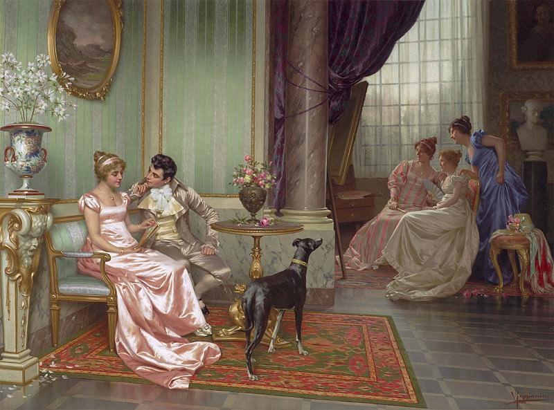 Реджианини, Витторио Interior with elegant figures 99820 20. часть 5 - европейского искусства Европейская живопись