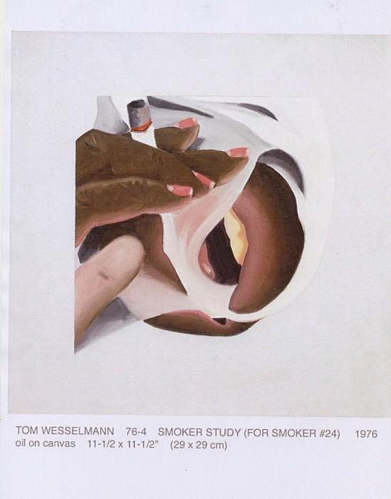 Tom WESSELMANN Smoker study 40658 1146. часть 5 -- European art Европейская живопись