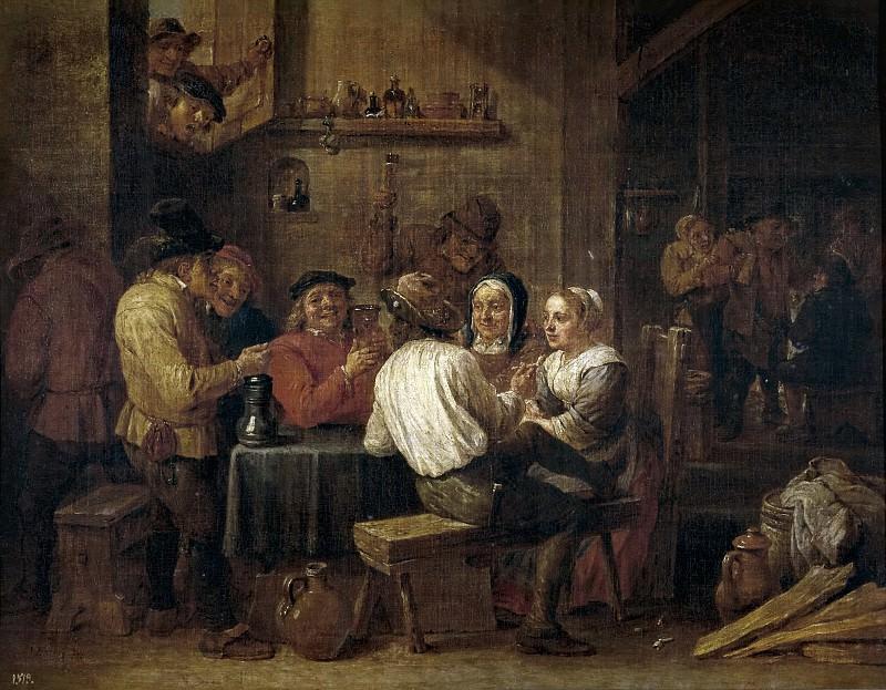 Тенирс, Давид II -- Пьющие и курящие крестьяне. часть 6 Музей Прадо