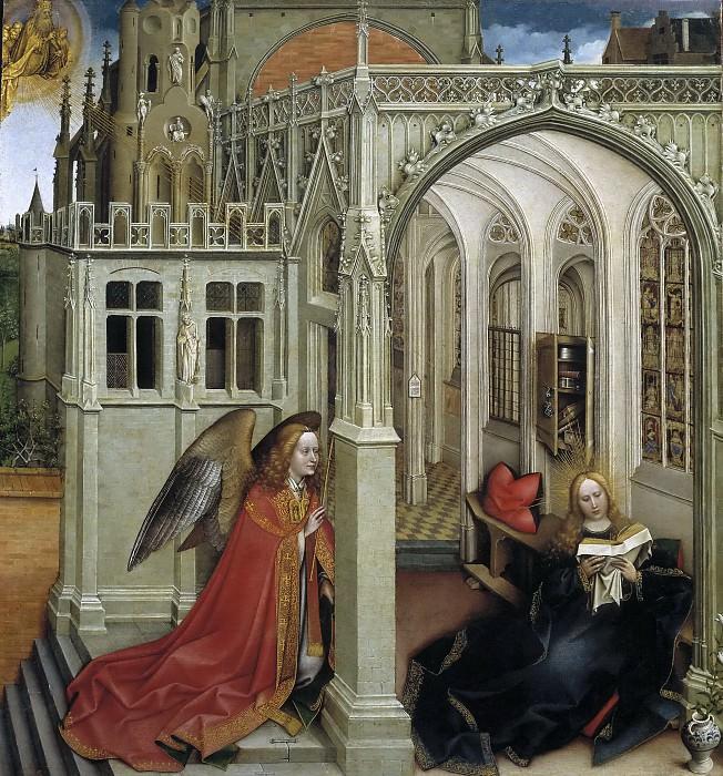Campin, Robert -- La Anunciación. Part 6 Prado Museum