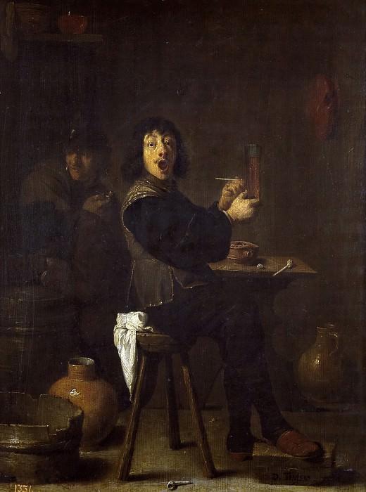 Teniers, David -- El soldado alegre. Part 6 Prado Museum