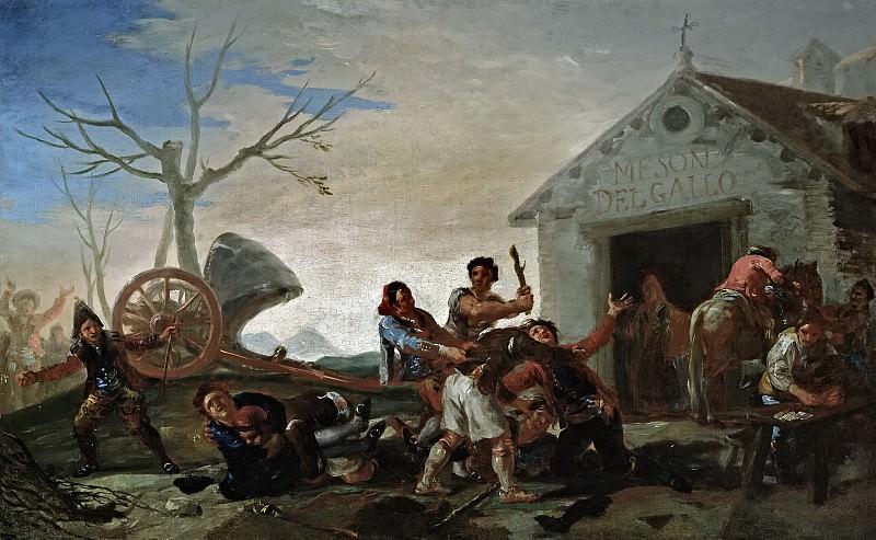 Goya y Lucientes, Francisco de -- La riña en el mesón del gallo. Part 6 Prado Museum