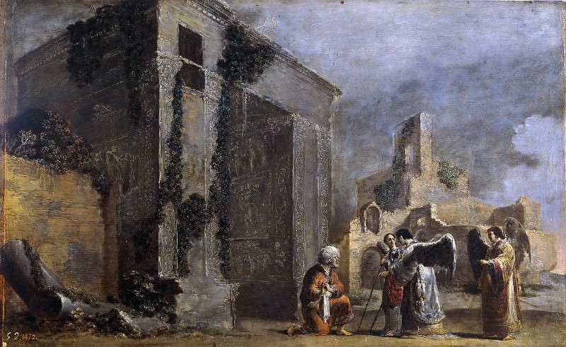 Bramer, Leonaert -- Abraham y los tres ángeles. Part 6 Prado Museum