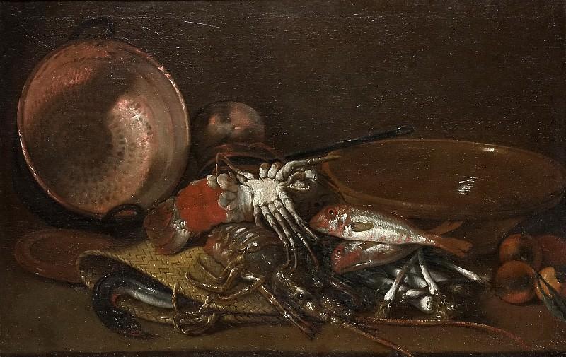 Виладомат, Антонио -- Натюрморт с рыбой и омарами. часть 6 Музей Прадо