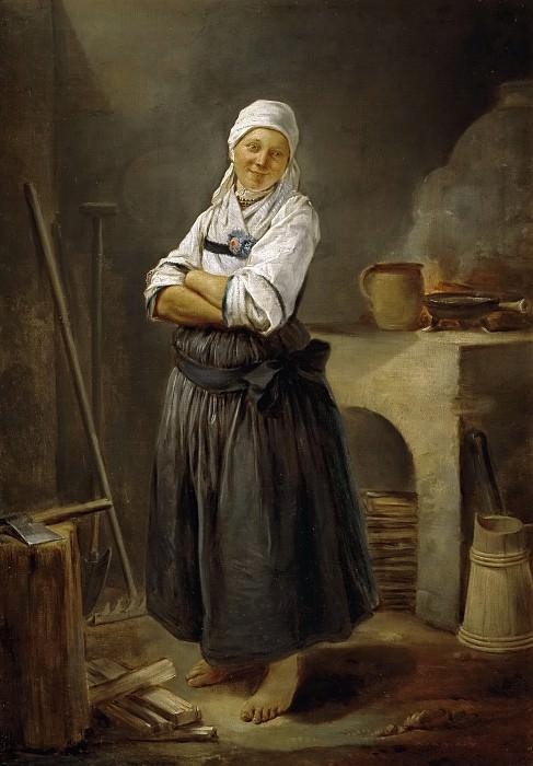 Ютен, Шарль Франсуа -- Саксонская деревенская кухня. часть 6 Музей Прадо