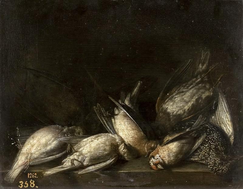 Vollenhoven, Herman van -- Bodegón de caza. Part 6 Prado Museum