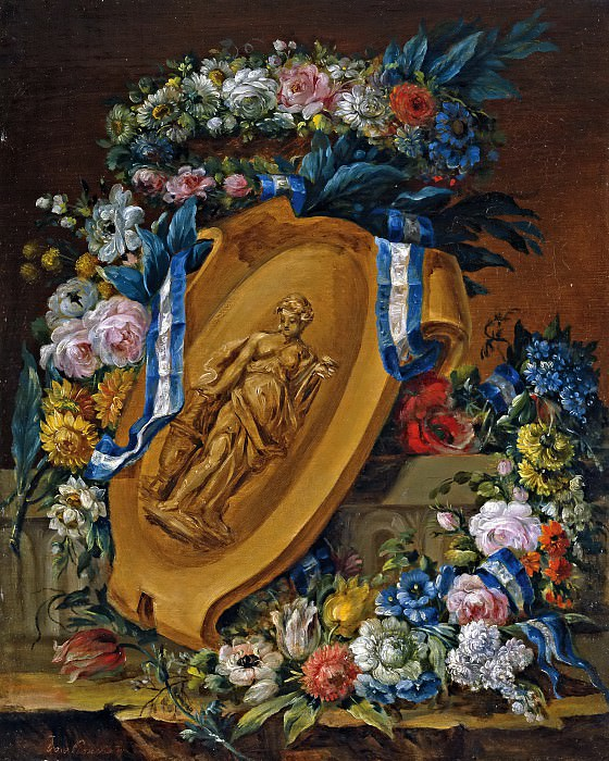 Рома, Хосе -- Гирлянды цветов со скульптурным барельефом. часть 6 Музей Прадо