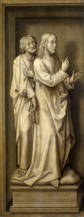 Стокт, Вранк ван дер -- Триптих Искупление: Иисус и апостол. часть 6 Музей Прадо