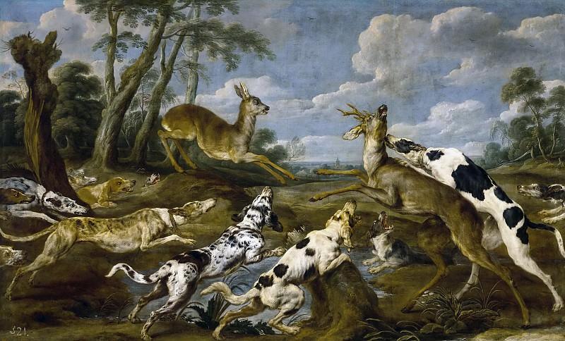 Vos, Paul de -- Cacería de corzos. Part 6 Prado Museum