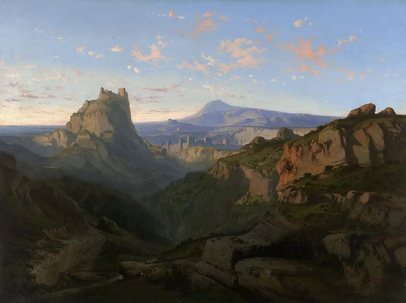 Rigalt y Farriols, Luis -- Pays original (Vista de Montsegur). Part 6 Prado Museum