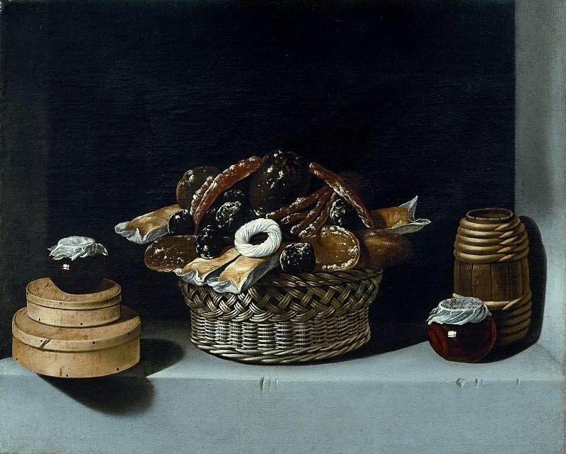 Hamen y León, Juan van der -- Cesta y caja con dulces. Part 6 Prado Museum
