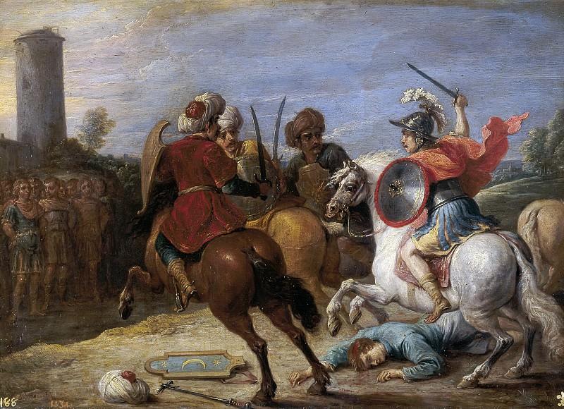 Тенирс, Давид II -- Ринальдо в бою против египтян. часть 6 Музей Прадо