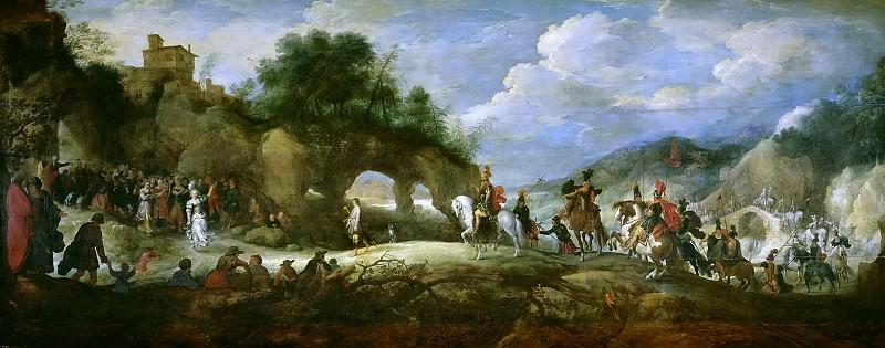 Brueghel el Joven, Pieter; Stalbent, Adriaen van -- El triunfo de David sobre Goliat. Pieter Brueghel the Younger
