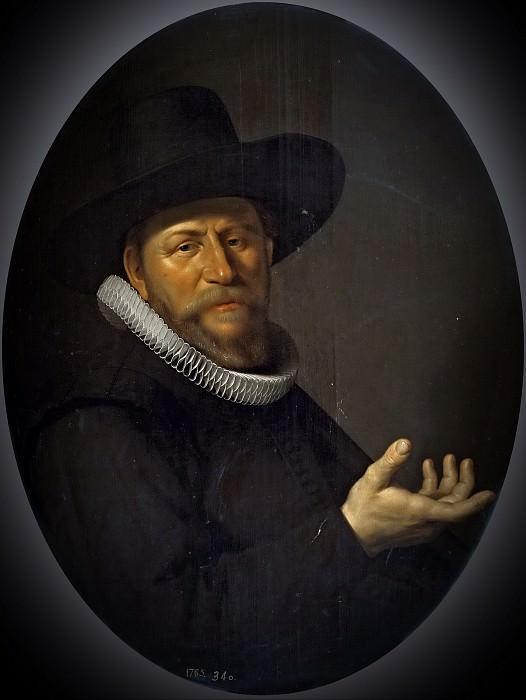 Anónimo (Círculo de Valckert, Werner Jacobsz.) -- Retrato de hombre. Part 6 Prado Museum