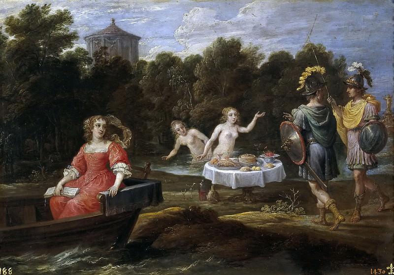 Teniers, David -- Carlos y Ubaldo en las islas Afortunadas. Part 6 Prado Museum