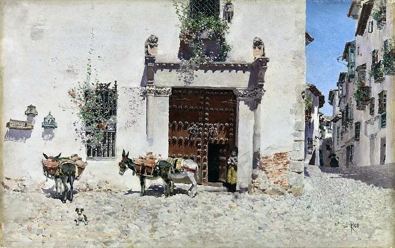 Rico y Ortega, Martín -- Puerta de una casa en Toledo. Part 6 Prado Museum