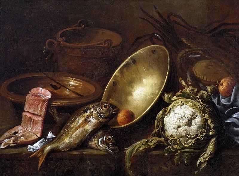 Pereda y Salgado, Antonio de -- Bodegón de cocina. Part 6 Prado Museum