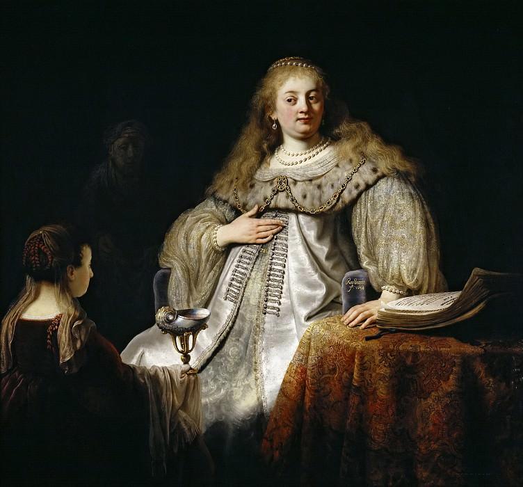 Rembrandt Harmensz. van Rijn -- Judit en el banquete de Holofernes. Part 6 Prado Museum