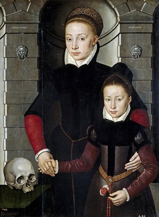 Cronenburch, Adriaen van -- Dama y niña. Part 6 Prado Museum