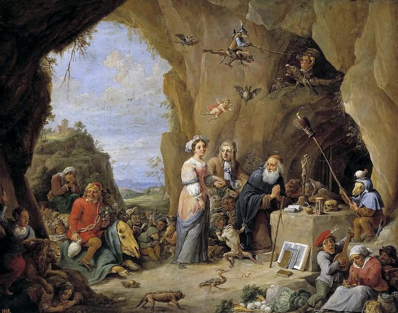 Teniers, David -- Tentaciones de San Antonio Abad. Part 6 Prado Museum