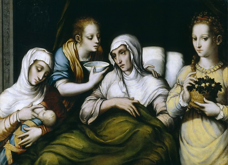 Моралес, Луис де -- Рождение Богородицы. часть 6 Музей Прадо