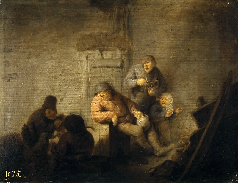 Ostade, Adriaen van -- Cocina aldeana. Part 6 Prado Museum